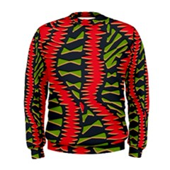 African Fabric Red Green Men s Sweatshirt
