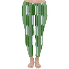 Arrows Green Classic Winter Leggings