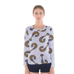 African Fabric Hair Wave Chevron Women s Long Sleeve Tee