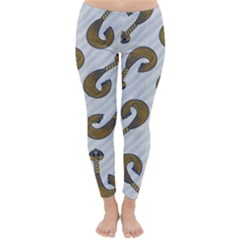 African Fabric Hair Wave Chevron Classic Winter Leggings