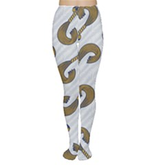 African Fabric Hair Wave Chevron Women s Tights