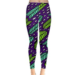 Arrows Purple Green Blue Classic Winter Leggings