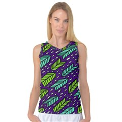 Arrows Purple Green Blue Women s Basketball Tank Top