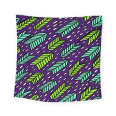 Arrows Purple Green Blue Square Tapestry (small)