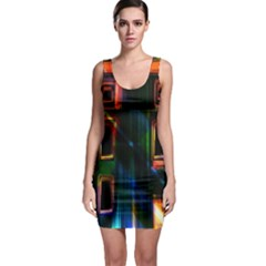 Architecture City Homes Window Sleeveless Bodycon Dress