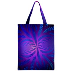 Background Brush Particles Wave Zipper Classic Tote Bag by Amaryn4rt