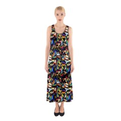 Abstract Pattern Design Artwork Sleeveless Maxi Dress