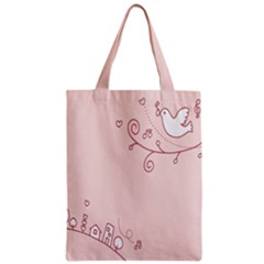 Bird City Sing Pink Notes Music Classic Tote Bag