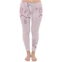 Bird City Sing Pink Notes Music Classic Winter Leggings