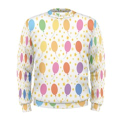 Balloon Star Color Orange Pink Red Yelllow Blue Men s Sweatshirt