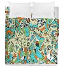 Animals Caterpillar Worm Owl Snake Leaf Flower Floral Duvet Cover Double Side (queen Size)