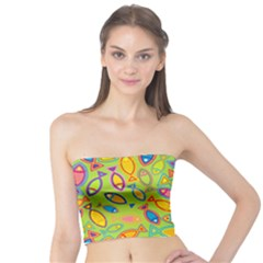 Animals Fish Green Pink Blue Green Yellow Water River Sea Tube Top