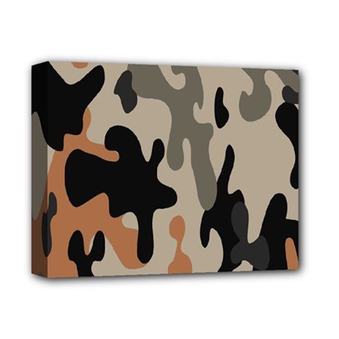 Camouflage Army Disguise Grey Orange Black Deluxe Canvas 14  X 11  by Alisyart