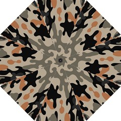 Camouflage Army Disguise Grey Orange Black Hook Handle Umbrellas (small) by Alisyart