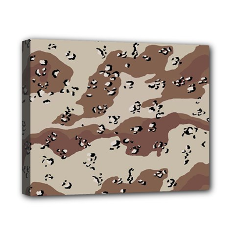 Camouflage Army Disguise Grey Brown Canvas 10  X 8