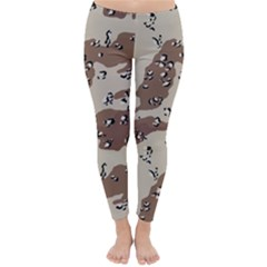 Camouflage Army Disguise Grey Brown Classic Winter Leggings