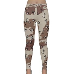 Camouflage Army Disguise Grey Brown Classic Yoga Leggings