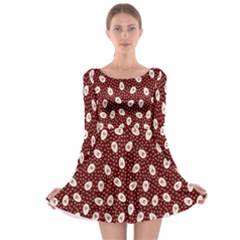 Animals Rabbit Kids Red Circle Long Sleeve Skater Dress