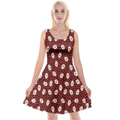 Animals Rabbit Kids Red Circle Reversible Velvet Sleeveless Dress
