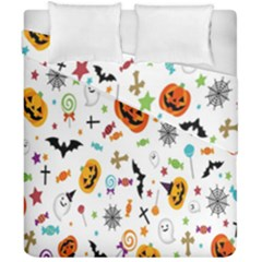 Candy Pumpkins Bat Helloween Star Hat Duvet Cover Double Side (california King Size) by Alisyart