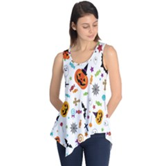 Candy Pumpkins Bat Helloween Star Hat Sleeveless Tunic by Alisyart