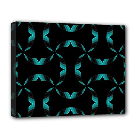 Chevron Blue Wave Deluxe Canvas 20  X 16   by Alisyart