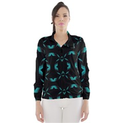 Chevron Blue Wave Wind Breaker (women)