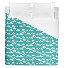 Cloud Blue Sky Sea Beach Bird Duvet Cover (queen Size)