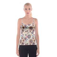 Flower Arrangements Season Floral Purple Love Heart Spaghetti Strap Top