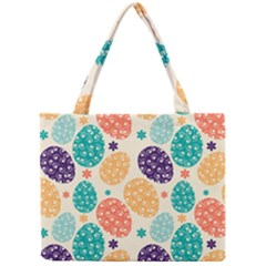 Egg Flower Floral Circle Orange Purple Blue Mini Tote Bag by Alisyart