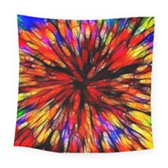 Color Batik Explosion Colorful Square Tapestry (large)