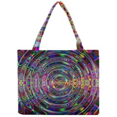 Wave Line Colorful Brush Particles Mini Tote Bag by Amaryn4rt