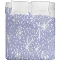 Floral Gray Springtime Flower Duvet Cover Double Side (california King Size)