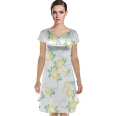 Flower Arrangements Season Sunflower Cap Sleeve Nightdress