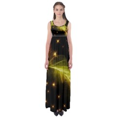 Particles Vibration Line Wave Empire Waist Maxi Dress by Amaryn4rt