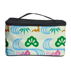 Flower Arrangements Season Sunflower Green Blue Pink Red Waves Cosmetic Storage Case