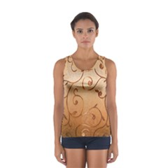 Texture Material Textile Gold Women s Sport Tank Top  by Amaryn4rt