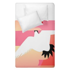 Goose Swan Pink Orange White Animals Fly Duvet Cover Double Side (single Size)