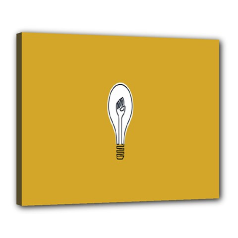 Idea Lamp White Orange Canvas 20  X 16