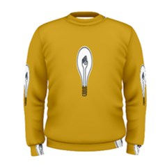 Idea Lamp White Orange Men s Sweatshirt