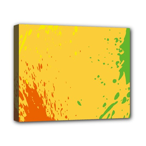 Paint Stains Spot Yellow Orange Green Canvas 10  X 8  by Alisyart