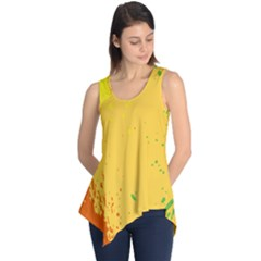 Paint Stains Spot Yellow Orange Green Sleeveless Tunic