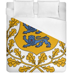 Coat Of Arms Of Estonia Duvet Cover (california King Size) by abbeyz71