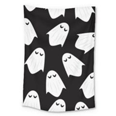 Ghost Halloween Pattern Large Tapestry by Amaryn4rt