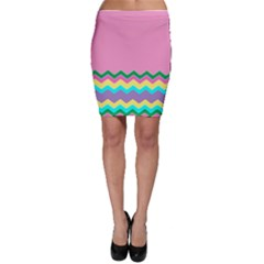Easter Chevron Pattern Stripes Bodycon Skirt by Amaryn4rt