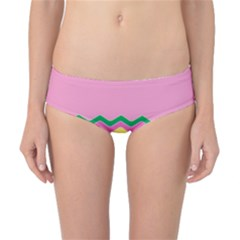 Easter Chevron Pattern Stripes Classic Bikini Bottoms