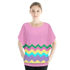 Easter Chevron Pattern Stripes Blouse