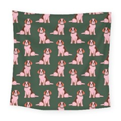 Dog Animal Pattern Square Tapestry (large)