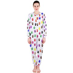 Paw Prints Background Onepiece Jumpsuit (ladies)