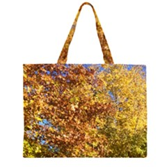 Bright Autumn Tree Zipper Large Tote Bag by SusanFranzblau
